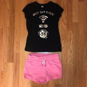 Cute summer set size 7/8 Justice top